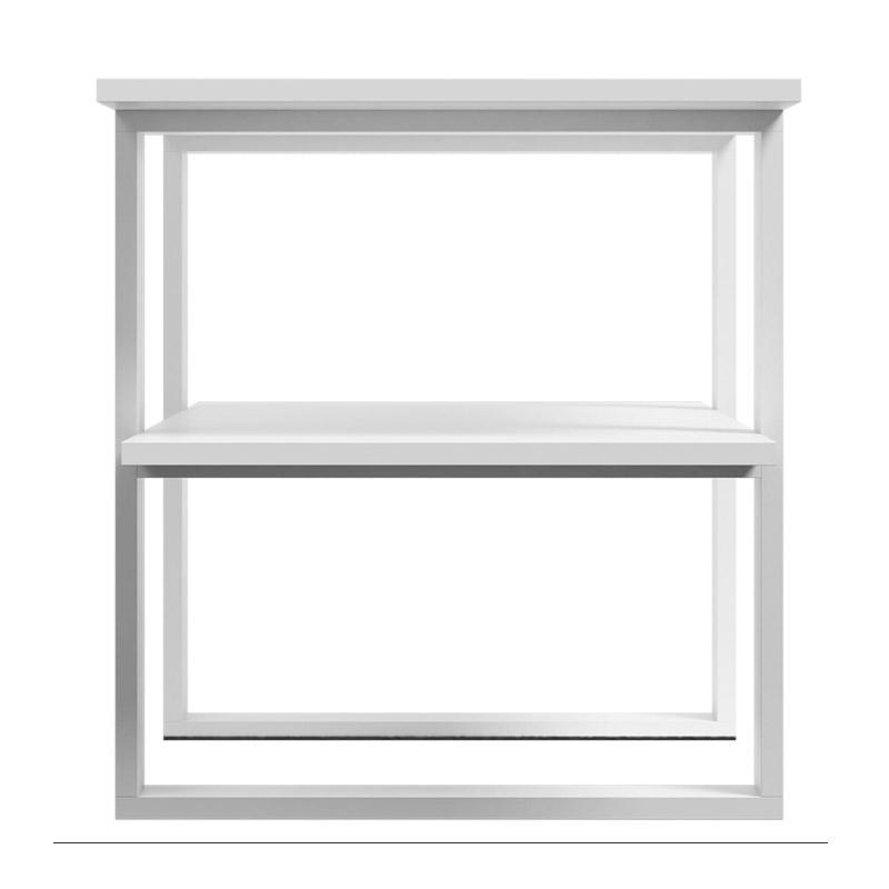 Ξύλινο Τραπέζι Σαλονιού 120 x 55 x 60 cm Χρώματος Λευκό SPM Kira JAN-KIRAW