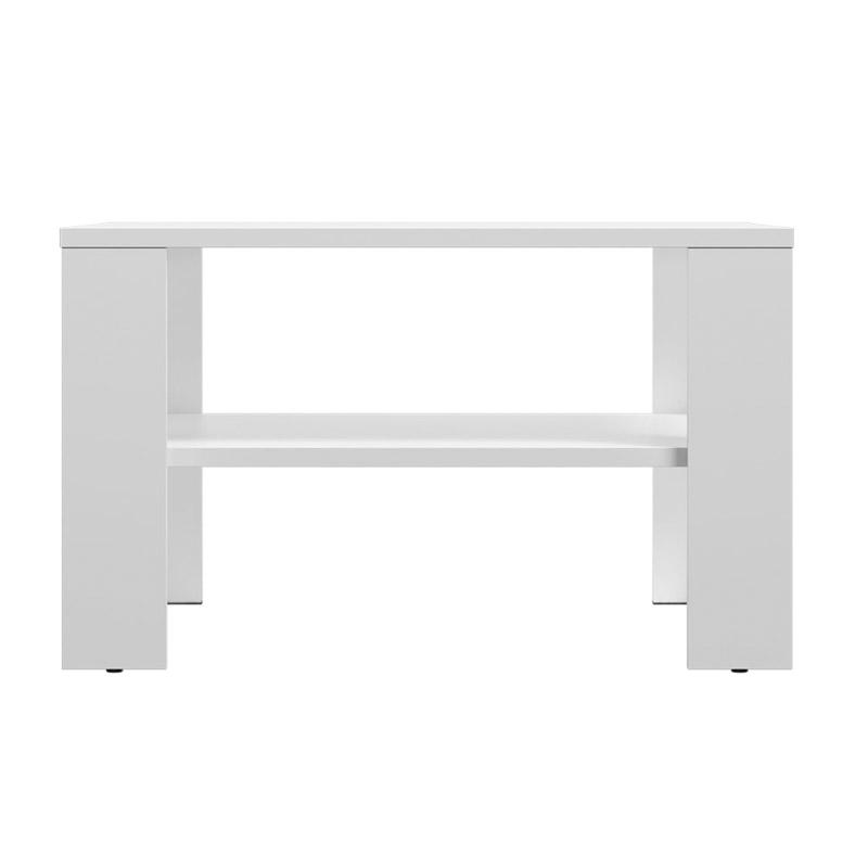 Ξύλινο Τραπέζι Σαλονιού 68 x 68 x 41 cm Χρώματος Λευκό SPM Lana JAN-LANAW