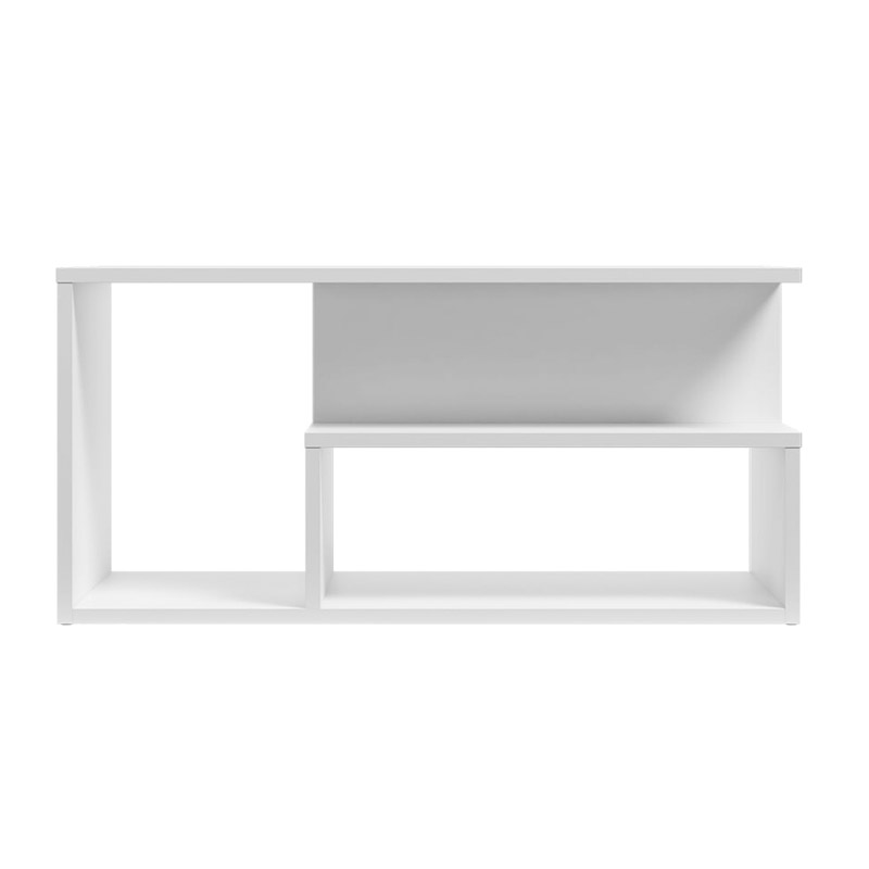 Ξύλινο Τραπέζι Σαλονιού 90 x 51 x 43 cm Χρώματος Λευκό SPM Leka JAN-LEKAW