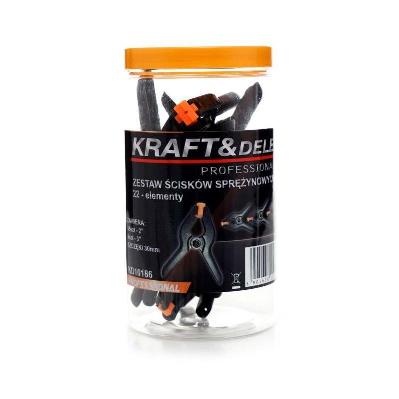 """Σετ Σφιγκτήρες Ελατηρίου 2/3"""" 22 τμχ Kraft&Dele KD-10186"""