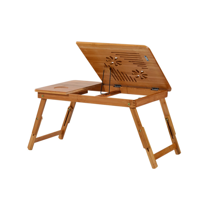 Ξύλινο Βοηθητικό Πτυσσόμενο Τραπέζι Πολλαπλών Χρήσεων με Βάση για Laptop HOMCOM 923-002