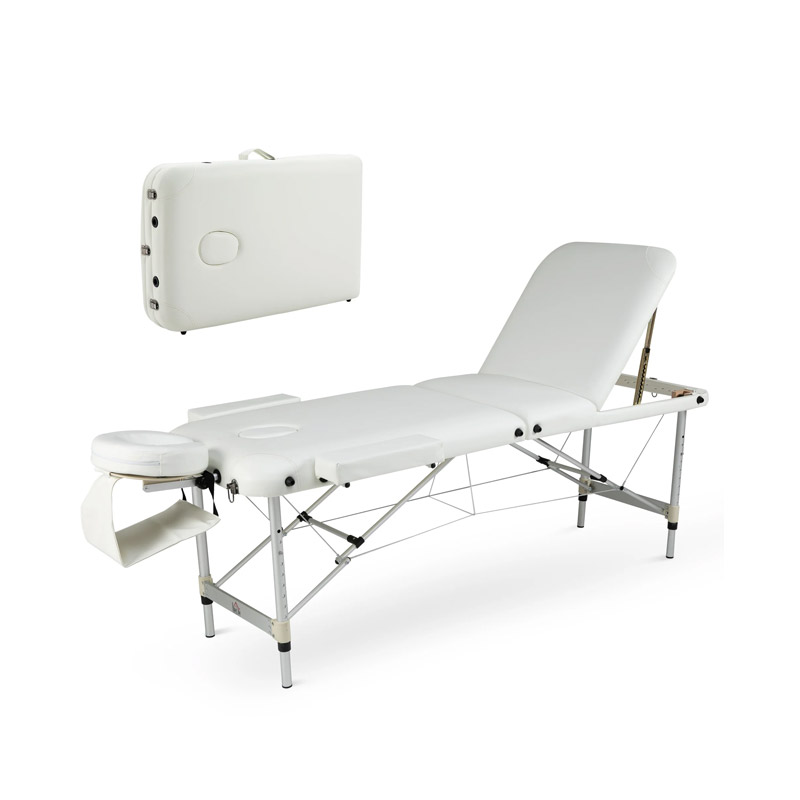 Φορητό Αναδιπλούμενο Επαγγελματικό Κρεβάτι - Κλίνη Μασάζ HOMCOM 700-039V70WT