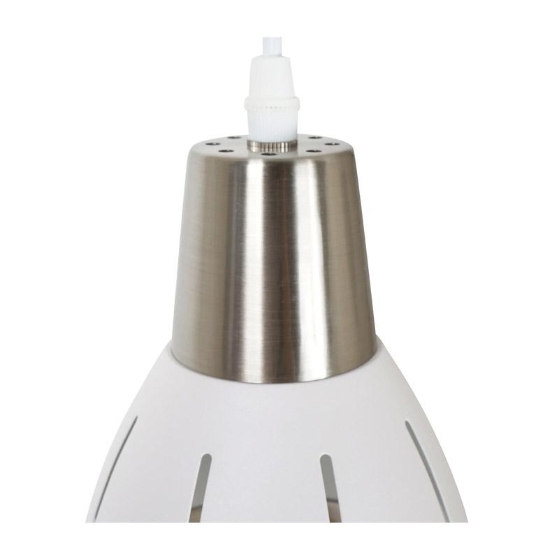 Κρεμαστό Μεταλλικό Φωτιστικό Οροφής Τρίφωτο Χρώματος Λευκό HOMCOM B31-102WT