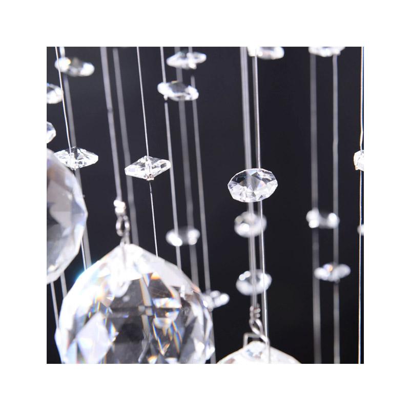 Μεταλλικός Πολυέλαιος με Κρύσταλλα 3 x 50 W HOMCOM 02-0302
