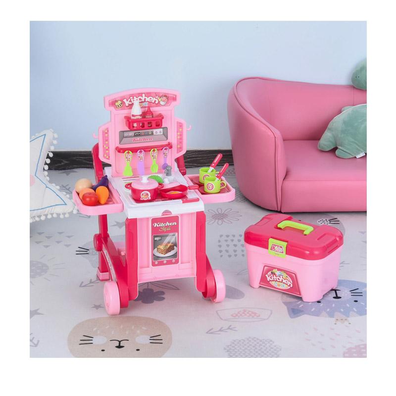 Παιδική Κουζίνα - Τρόλεϊ με Αξεσουάρ 59.7 x 47 x 42.5 cm HOMCOM 350-062