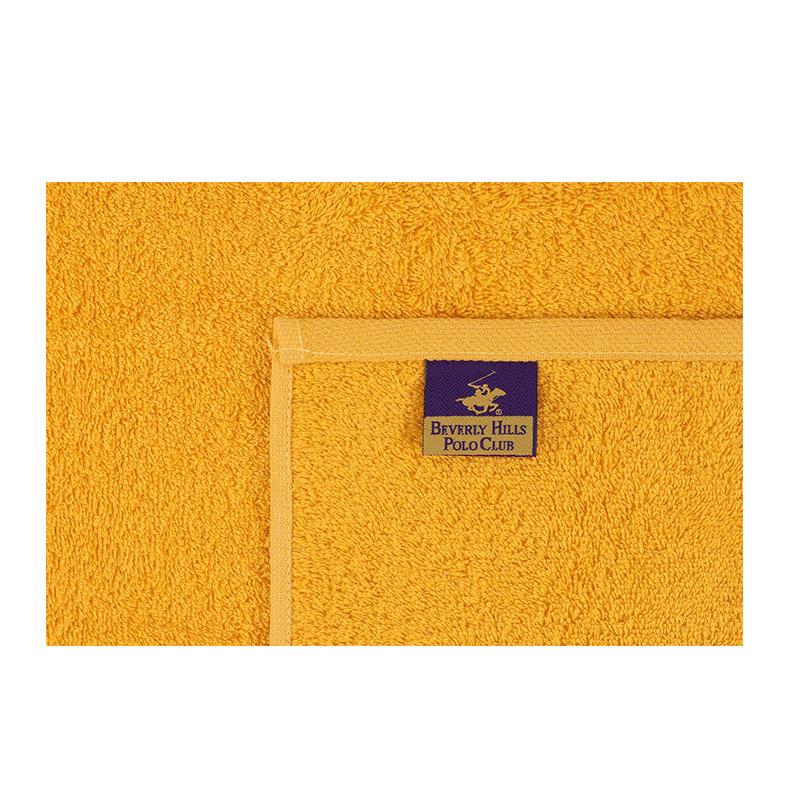 Σετ με 2 Πετσέτες Προσώπου 50 x 90 cm Χρώματος Μουσταρδί - Σκούρο Γκρι Beverly Hills Polo Club 355BHP2368