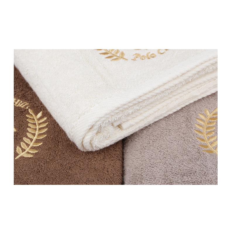 Σετ με 3 Πετσέτες Μπάνιου 70 x 140 cm Χρώματος Μπεζ - Καφέ Σκούρο - Καφέ Ανοιχτό Beverly Hills Polo Club 355BHP2463