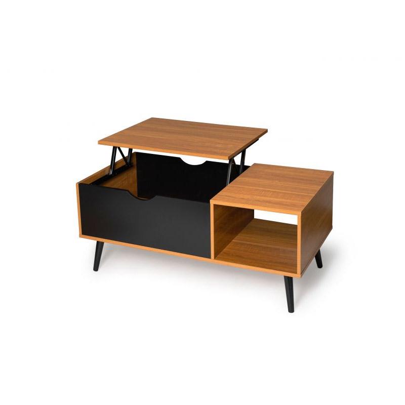 Τραπέζι Σαλονιού με Ρυθμιζόμενο Ύψος 110 x 55 x 43 cm Χρώματος Καφέ Alesund Idomya 30080291