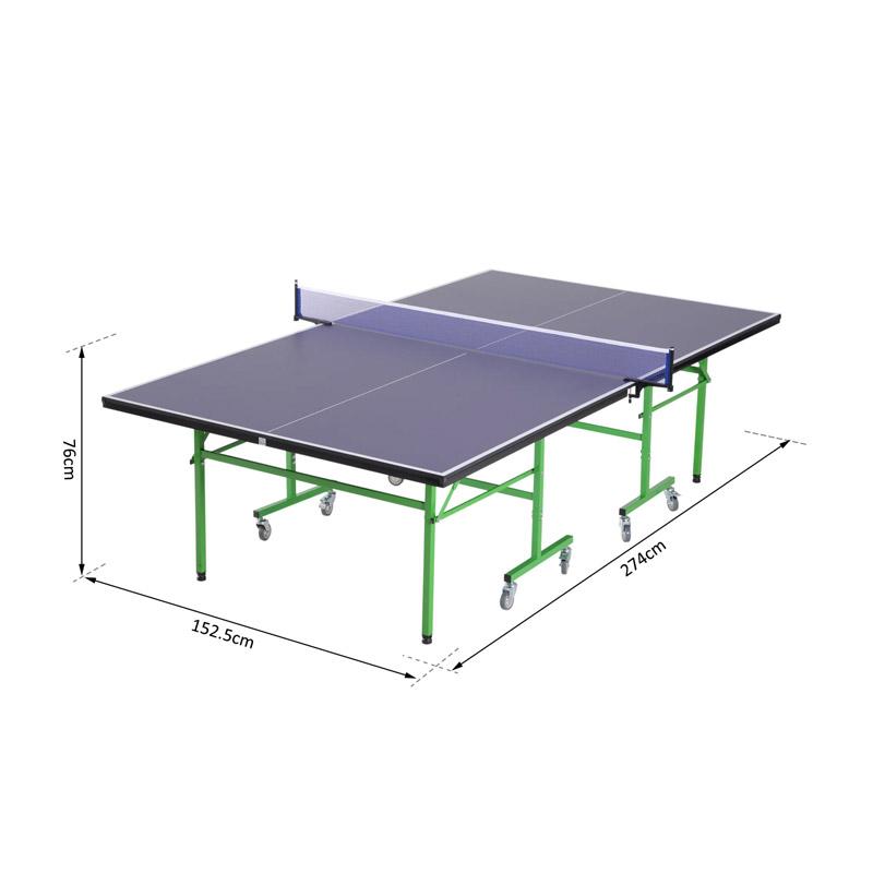 Πτυσσόμενο Τροχήλατο Τραπέζι Πινγκ-Πονγκ 152.5 x 274 x 76 cm HOMCOM A90-162