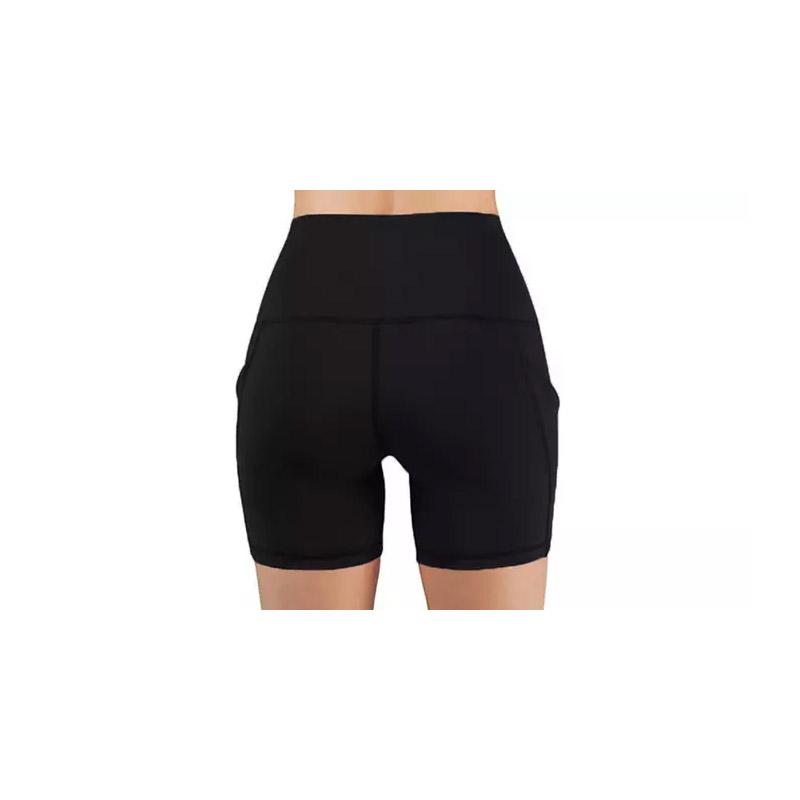 Γυναικείο Ψηλόμεσο Σορτς Κολάν Γυμναστικής με Τσέπες Χρώματος Μαύρο SPM DYN-5059059077742