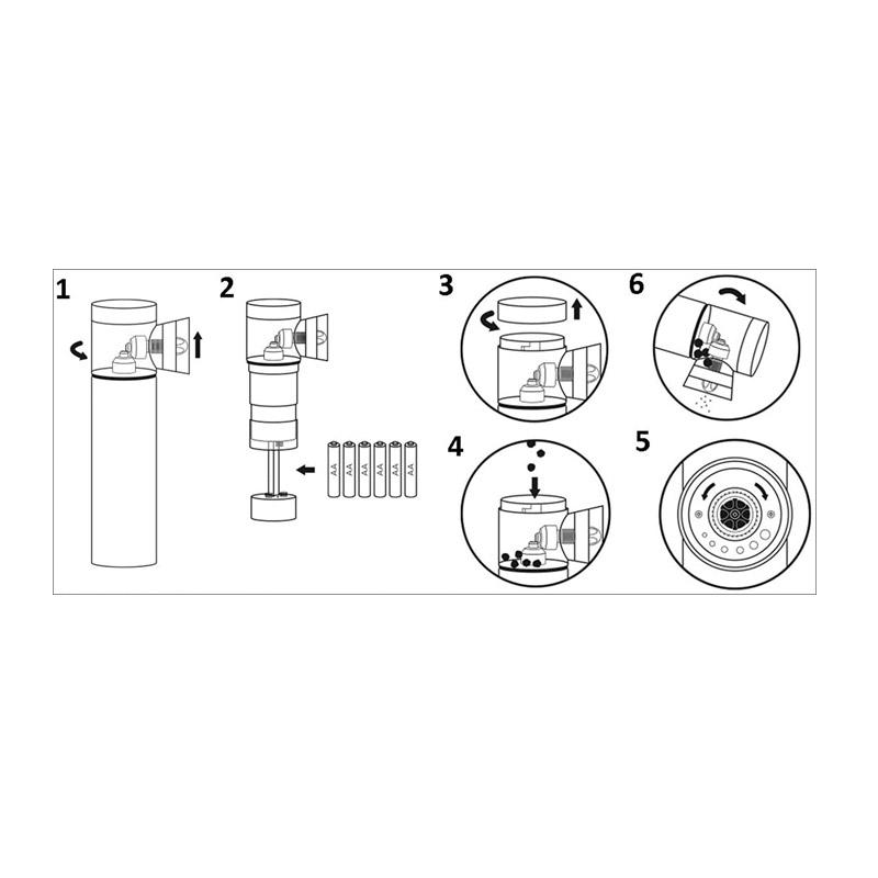 Ηλεκτρικός Μύλος Άλεσης Μπαχαρικών Χρώματος Μαύρο Emerio PM-211798.5