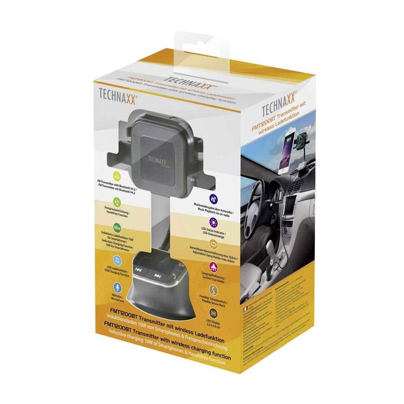 Συσκευή Bluetooth FM Transmitter με Βάση Ασύρματης Φόρτισης Technaxx FMT1200BT