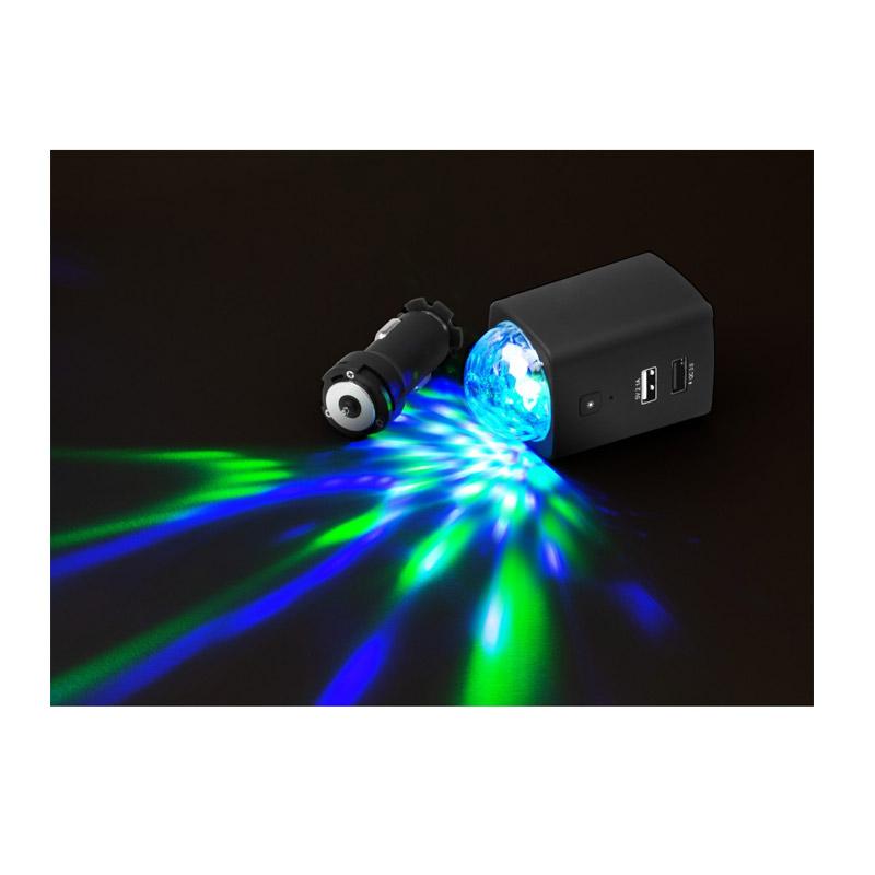 Φορτιστής Αυτοκινήτου USB-C με LED Disco Φωτισμό Technaxx TX-159