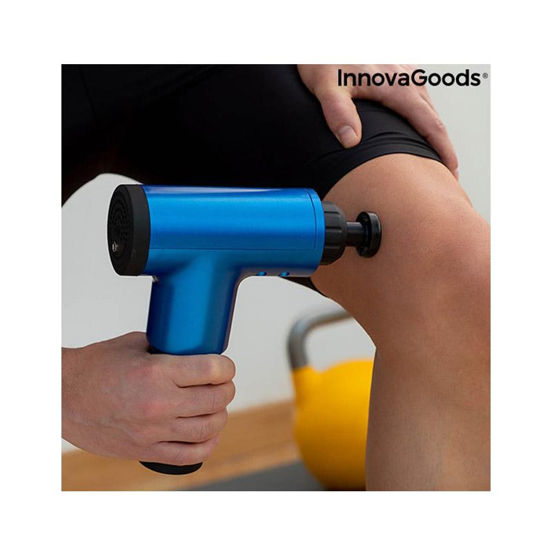 Συσκευή Μασάζ με 4 Κεφαλές Sport Fitness Massage Gun InnovaGoods V0103085