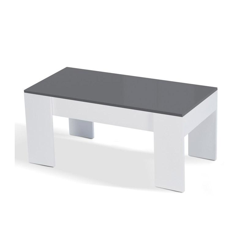 Ξύλινο Τραπέζι Σαλονιού 100 x 70 x 57 cm Χρώματος Λευκό Gloria Idomya 30080085