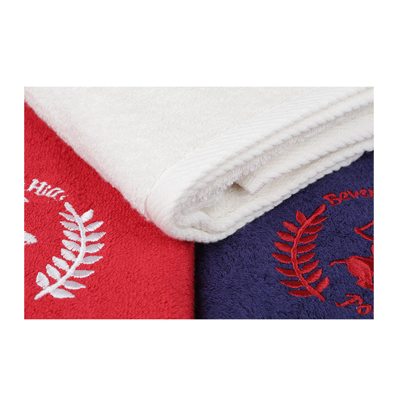 Σετ με 3 Πετσέτες Προσώπου 50 x 90 cm Χρώματος Λευκό - Κόκκινο - Navy Beverly Hills Polo Club 355BHP2303