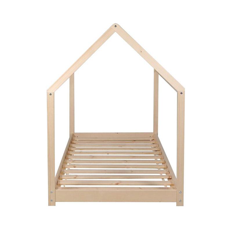 Παιδικό Ξύλινο Κρεβάτι Σπίτι 146 x 74.5 x 140 cm Hoppline HOP1001085