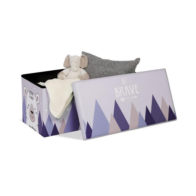 Πτυσσόμενο Παιδικό Σκαμπό με Αποθηκευτικό Χώρο 76 x 38 x 38 cm Αρκούδα Idomya 30010404
