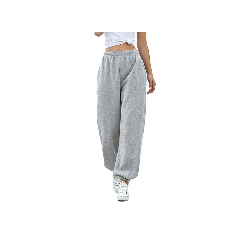 Γυναικείο Παντελόνι Φόρμας Fleece Jogger Oversized Χρώματος Γκρι SPM DYN-50590590359