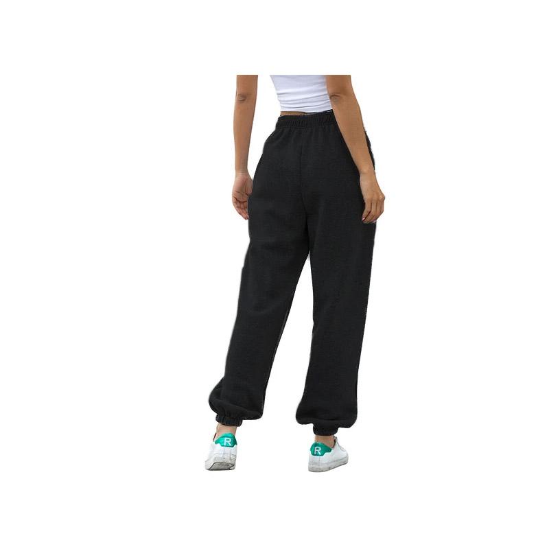 Γυναικείο Παντελόνι Φόρμας Fleece Jogger Oversized Χρώματος Μαύρο SPM DYN-50590590358