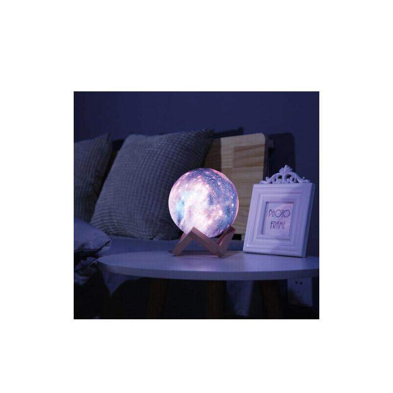 Επαναφορτιζόμενο Φωτιστικό Αφής Γαλαξίας 3D με LED GEM BN2214