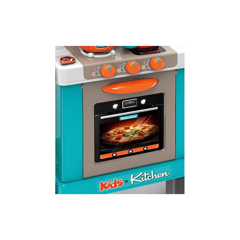 Παιδική Κουζίνα 78 x 29 x 87 cm με Αξεσουάρ Χρώματος Τιρκουάζ Hoppline HOP1001149-2