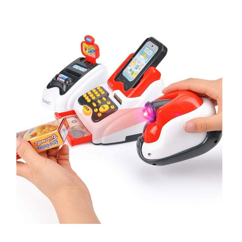 Παιδική Ταμειακή Μηχανή με Φως - Ήχο και Αξεσουάρ 24 τμχ Hoppline HOP1001157