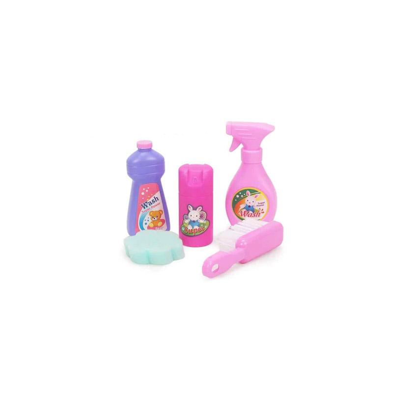 Παιδικό Σετ Καθαρισμού - Τρόλεϊ 10 τμχ Hoppline HOP1001160-1