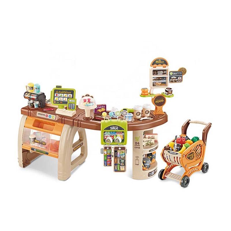 Παιδικό Σετ Σούπερ Μάρκετ με Καρότσι και Αξεσουάρ 65 τμχ Hoppline HOP1001155
