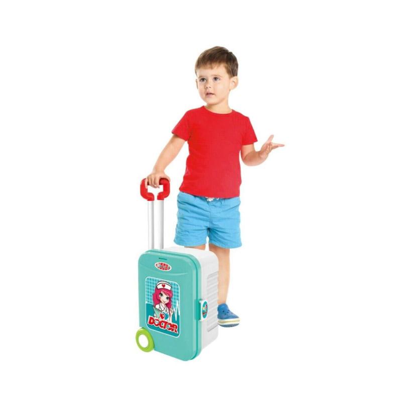 Παιδικό Σετ Γιατρός Τρόλεϊ και Βαλιτσάκι 50 x 21 x 66 cm με Αξεσουάρ Hoppline HOP1001152