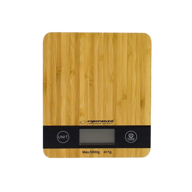 Ψηφιακή Ζυγαριά Κουζίνας από Μπαμπού 5 Kg Esperanza EKS005