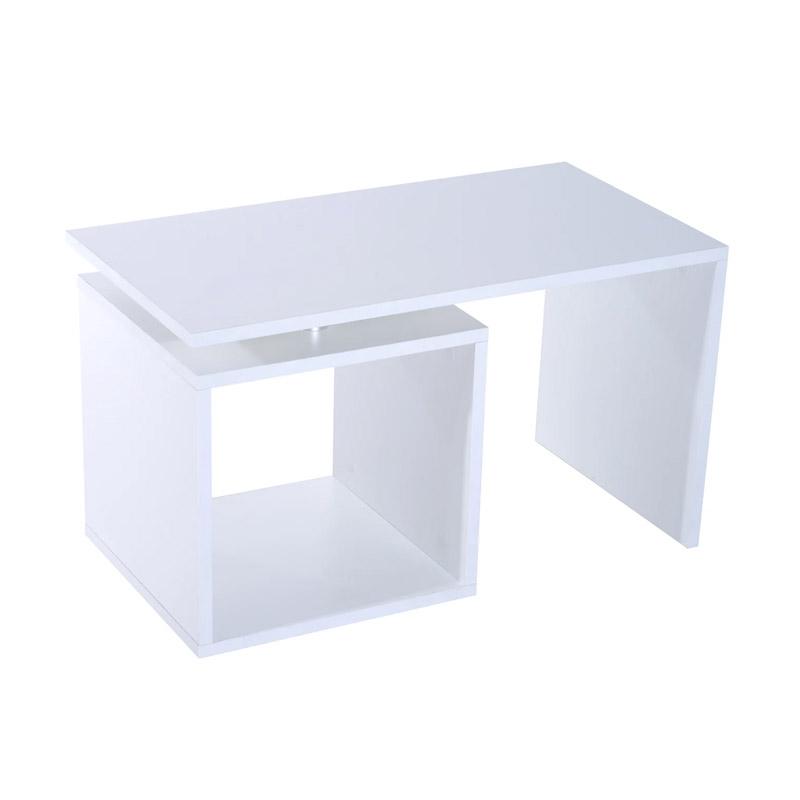 Ξύλινο Τραπέζι Σαλονιού 77 x 40 x 44 cm Χρώματος Λευκό  HOMCOM 833-136WT