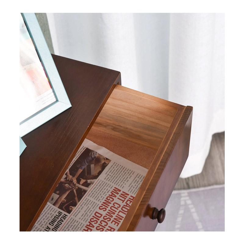 Ξύλινο Βοηθητικό Τραπεζάκι με Φωτιστικό 40 x 30 x 132.5 Χρώματος Σκούρο Καφέ HOMCOM B31-177