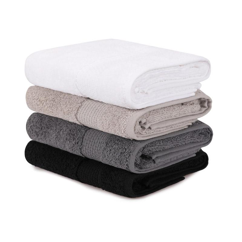 Σετ με 4 Πετσέτες Προσώπου 50 x 90 cm Χρώματος Μαύρο - Λευκό - Γκρι - Καφέ Beverly Hills Polo Club 355BHP2372