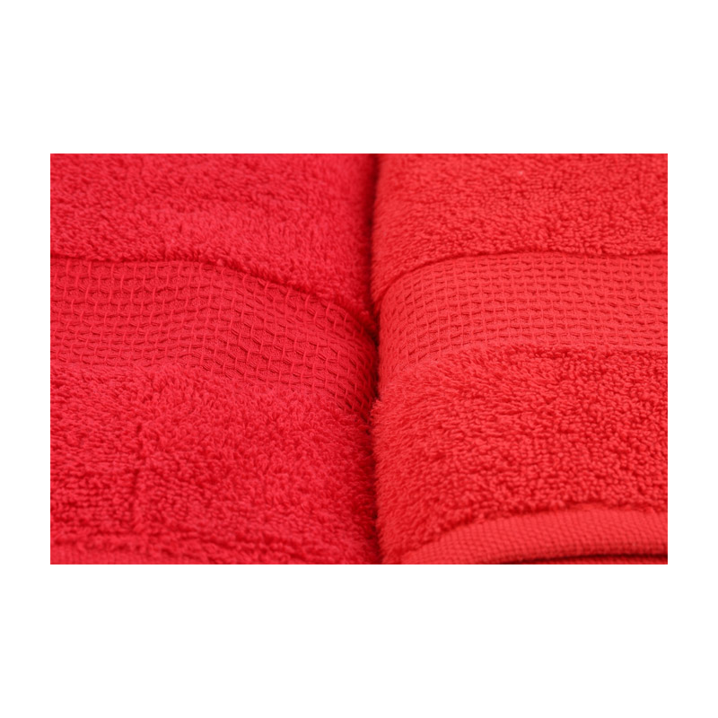 Σετ με 4 Πετσέτες Μπάνιου 70 x 140 cm Χρώματος Κόκκινο Beverly Hills Polo Club 355BHP2618