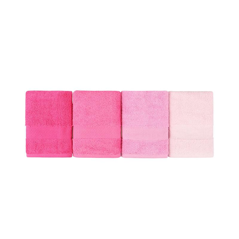 Σετ με 4 Πετσέτες Προσώπου 50 x 90 cm Χρώματος Φούξια Beverly Hills Polo Club 355BHP2377
