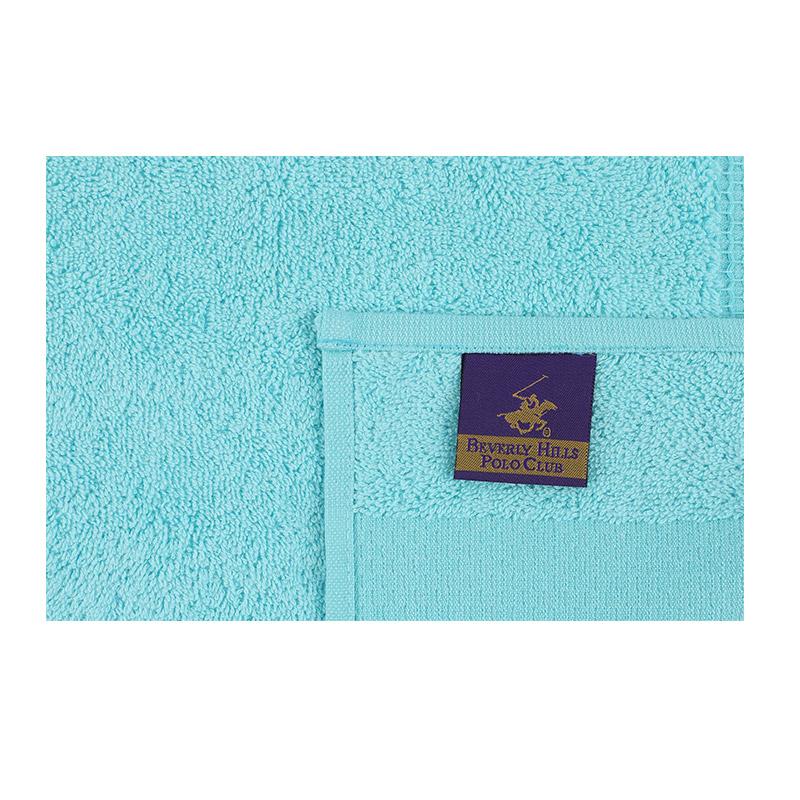 Σετ με 4 Πετσέτες Προσώπου 50 x 90 cm Χρώματος Γαλάζιο Beverly Hills Polo Club 355BHP2380
