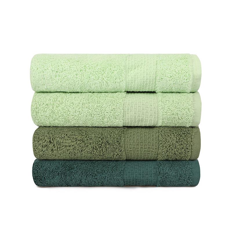 Σετ με 4 Πετσέτες Προσώπου 50 x 90 cm Χρώματος Πράσινο Beverly Hills Polo Club 355BHP2375