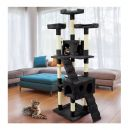 Δέντρο Γάτας - Ονυχοδρόμιο 75 x 62 x 170 cm Χρώματος Μαύρο Wintem PL-3916