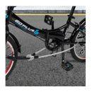Κλειδαριά Ποδηλάτου Ασφαλείας Σχήματος U με Σχοινί και 3 Κλειδιά Costway TL35153