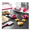 Σετ Εργαλείων Ζαχαροπλαστικής για Cookies 15 τμχ Χρώματος Ροζ Herzberg HG-CK127-Pink