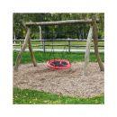 Παιδική Στρογγυλή Κούνια Δέντρου 110 cm Χρώματος Κόκκινο Hoppline HOP1001104-2