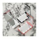 Φορητός Καθρέπτης Ταξιδίου με Οθόνη Αφής LED GloBrite Χρώματος Λευκό LEDTravelMir-White