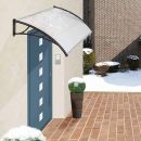 Πλαστικό Κιόσκι - Τέντα Πόρτας Εισόδου 120 x 90 cm Hoppline HOP1000696-1