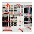 Πτυσσόμενη Απλώστρα Πολλαπλών Χρήσεων με Ρόδες Χρώματος Πορτοκαλί Herzberg HG-8034