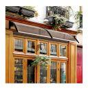 Διπλό Πλαστικό Κιόσκι - Τέντα Πόρτας Εισόδου 80 x 197 x 23 cm Χρώματος Καφέ Outsunny B70-047BN