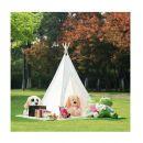 Παιδική Ινδιάνικη Σκηνή 150 x 155 x 130 cm Χρώματος Λευκό Hoppline HOP1000941-1