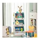 Ξύλινη Παιδική Ραφιέρα με 3 Ράφια 42 x 40 x 96 cm Songmics GKR30WT