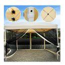 Κιόσκι Κήπου με Μεταλλικό Σκελετό και Σίτες 3 x 3 m Outsunny 01-0280