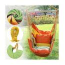 Μονή Αιώρα Canvas με Μαξιλάρια 45 x 80 cm Χρώματος Πορτοκαλί Hoppline HOP1001069-2
